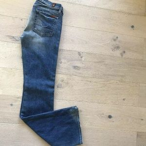 7 For All Mankind Jeans 28 Flare Blue Denim